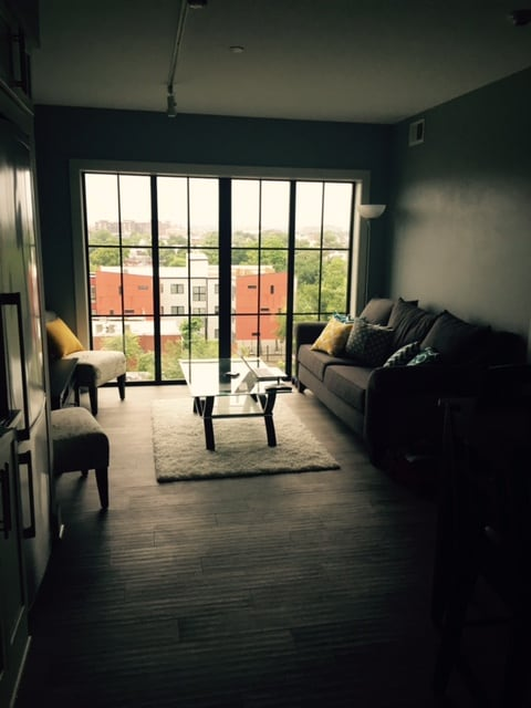 1BR, great views, walk to metro