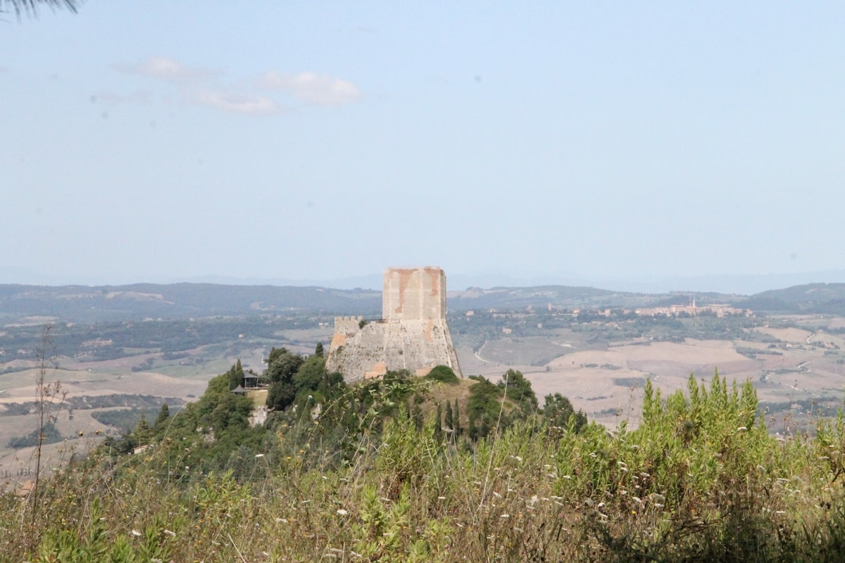 Room with 2 beds in Val d'Orcia