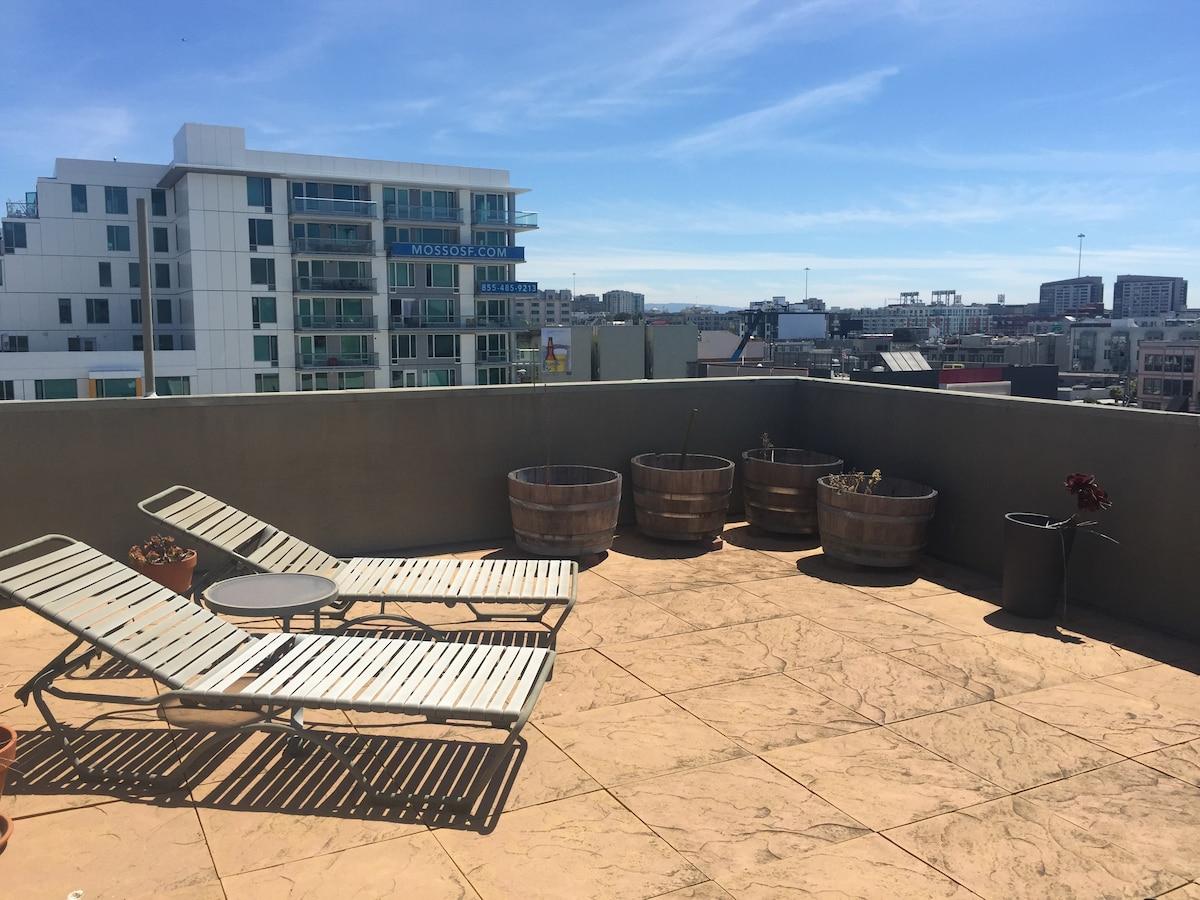 Sunny SOMA Loft in heart of SF
