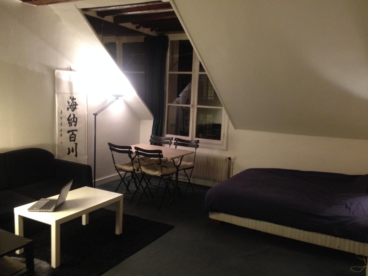 Cosy studio in Le Marais 30m2