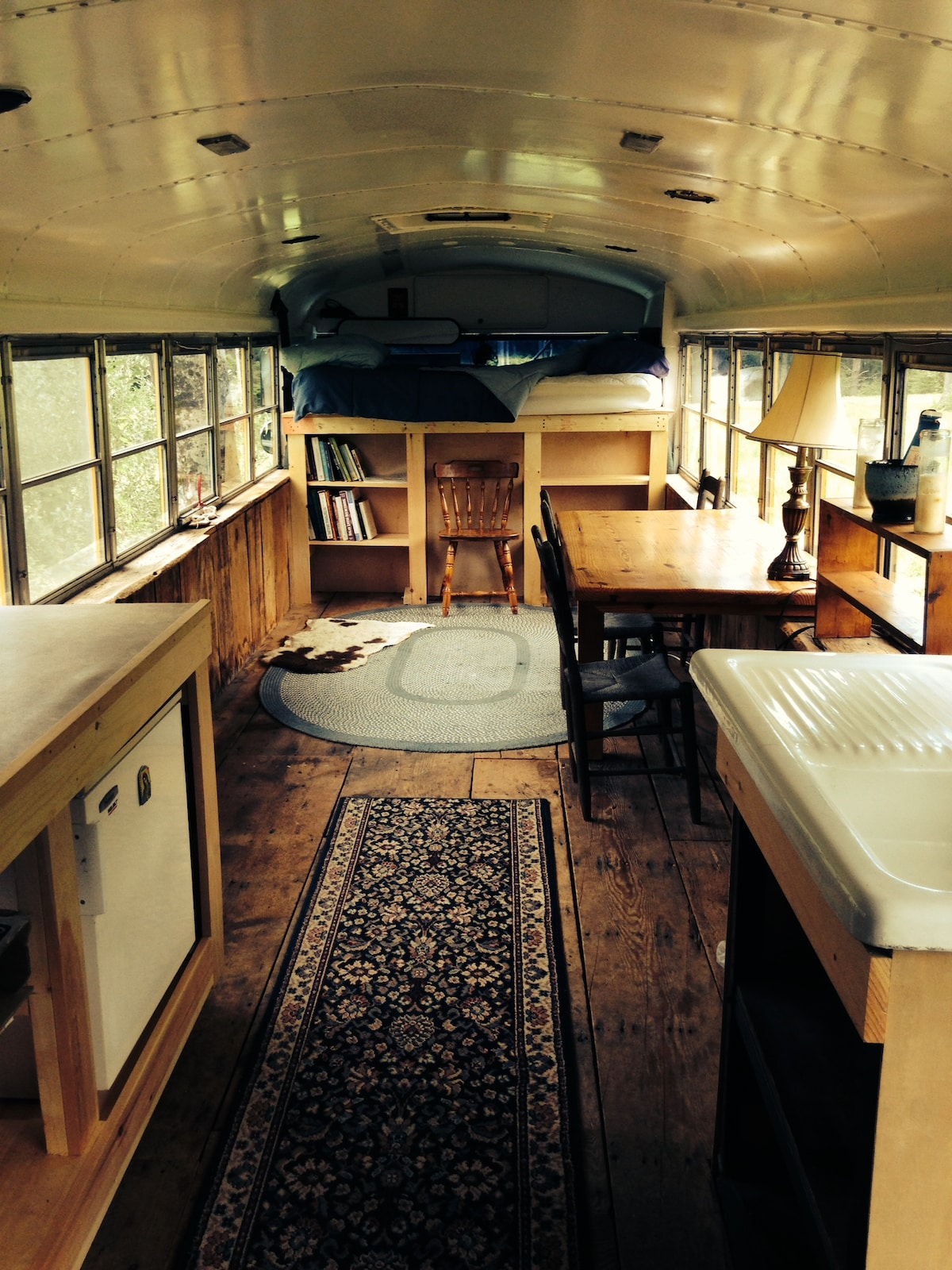 Comfy Renovated School Bus