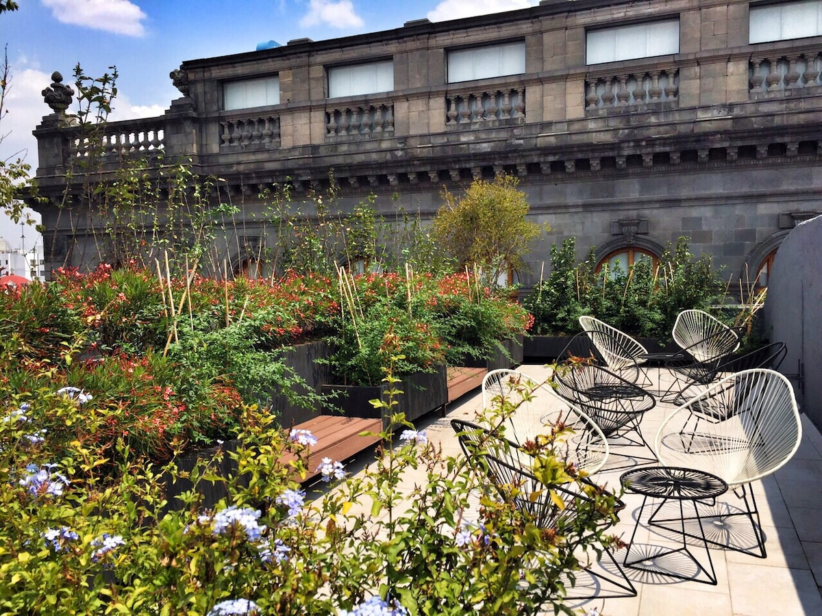 Historic Center Roof Garden Loft B