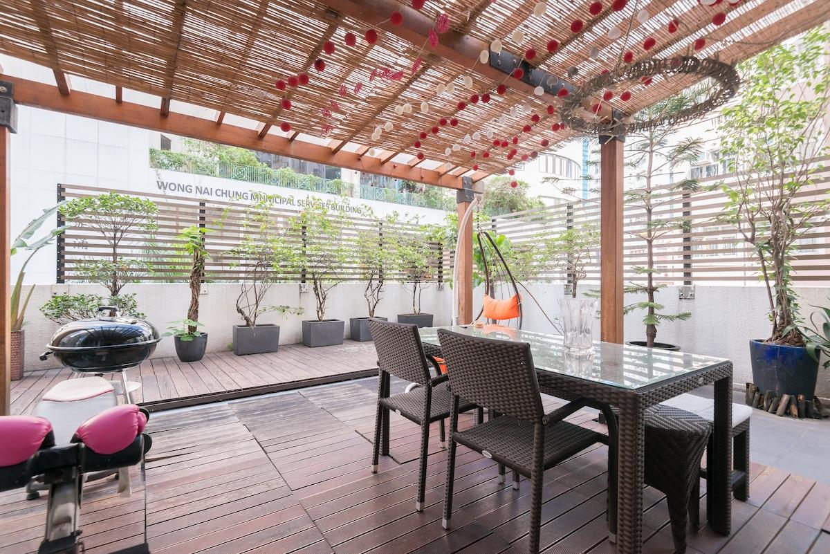 Stylish Studio w Stunning Terrace