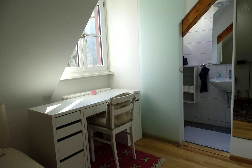 Helles Zimmer mit eigenem Bad - Freiburg - Apartemen