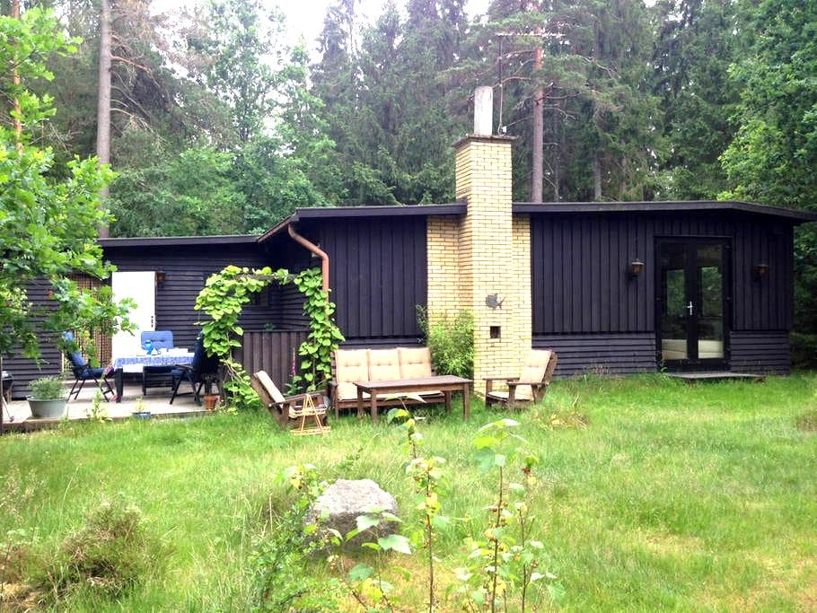 Fredfyldt hus i skoven, 300m fra Helgasjön - Växjö N