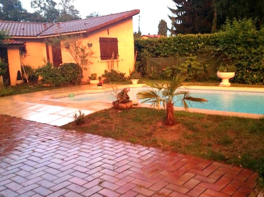 Studio indépendant jardin piscine - Mont-de-Marsan - 独立屋