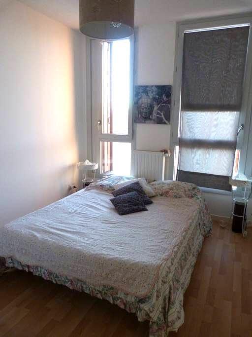 Chambre et salle d'eau privées dans un appartement - Pessac - Appartement