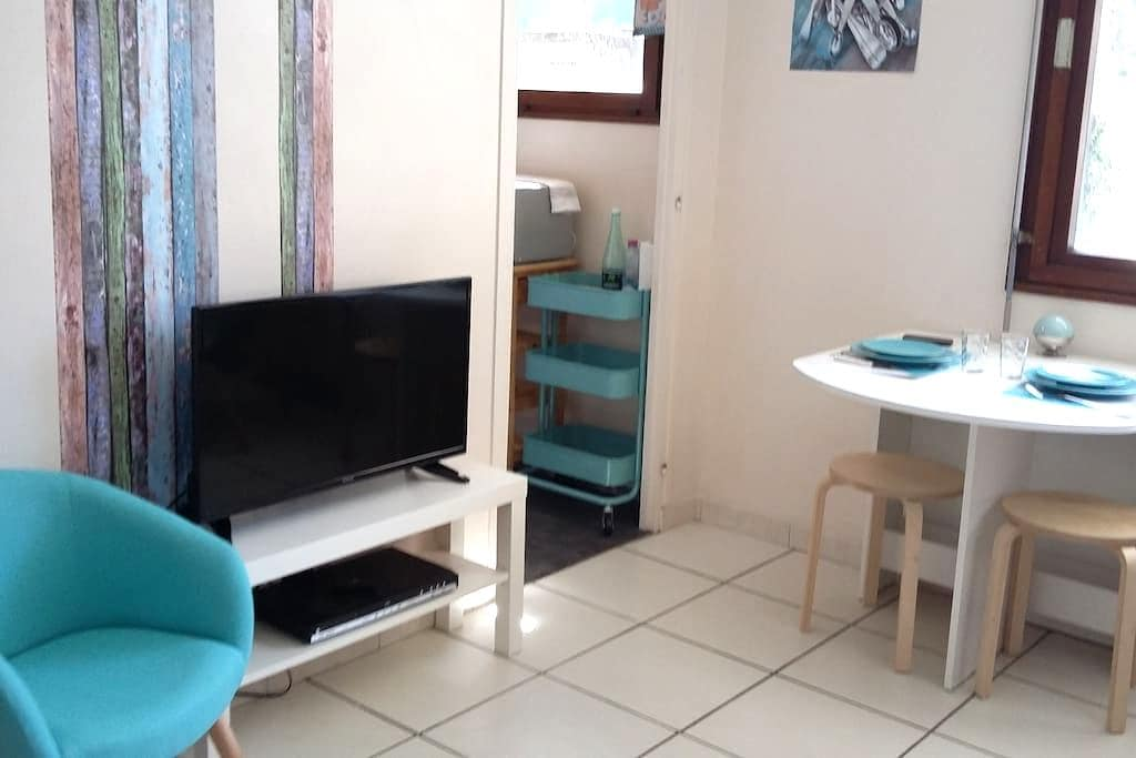 Studio+parking/1 à 4 personnes/frontière - Annemasse
