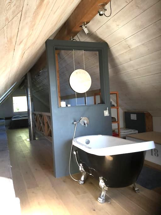 Suite sous les combles dans une maison passive - Hem - Villa