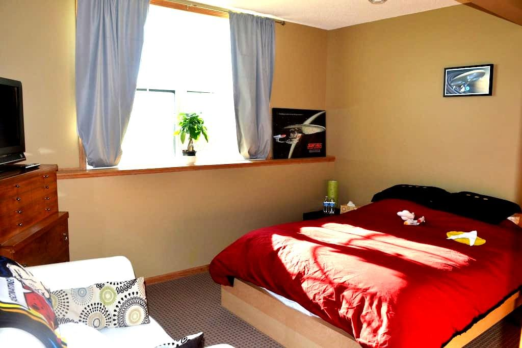 Huge bedroom, living room and private entrance - Rochester - House