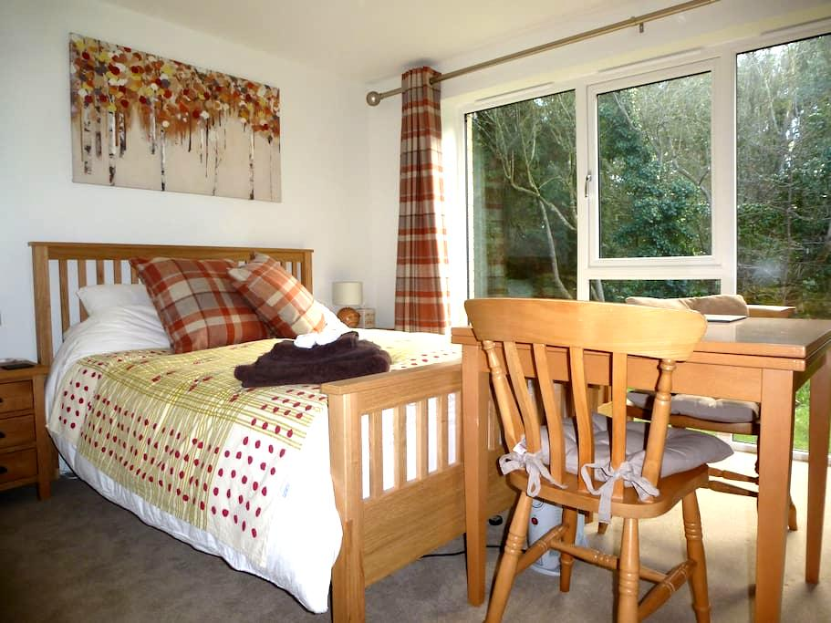 Woodland Room Treetops, Duporth Private Beach - St Austell - Bed & Breakfast