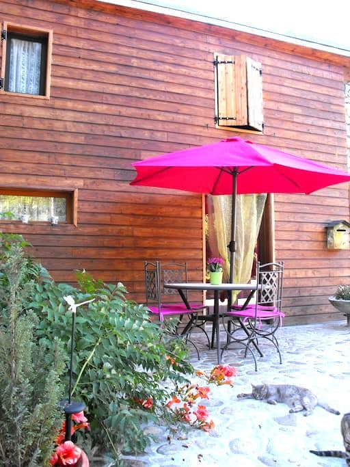 appartement T1+, terrasse fermée - Ornolac-Ussat-les-Bains - Apartment
