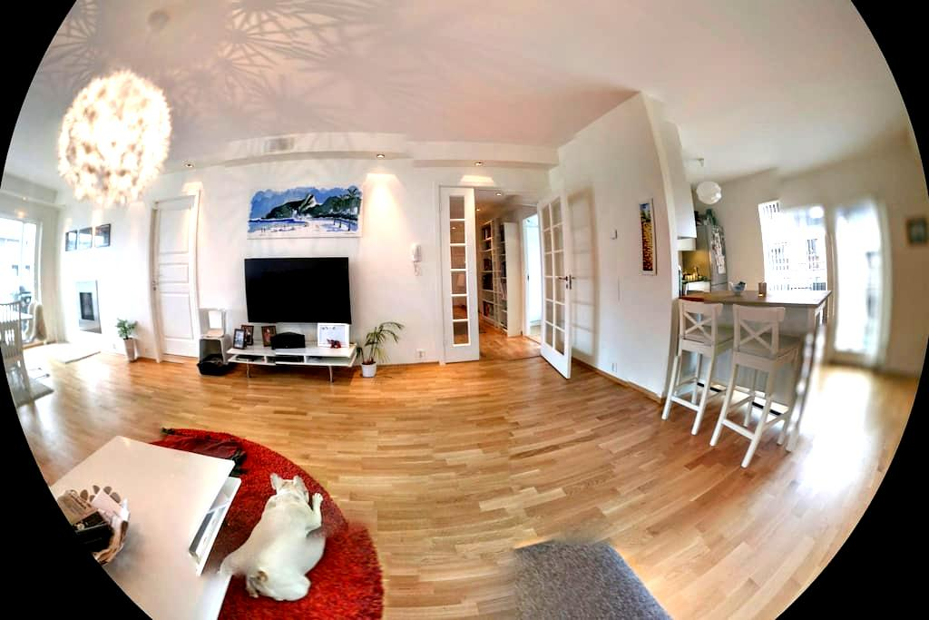 Spacious apartment in Fornebu with a great veiw - Fornebu - Apartemen