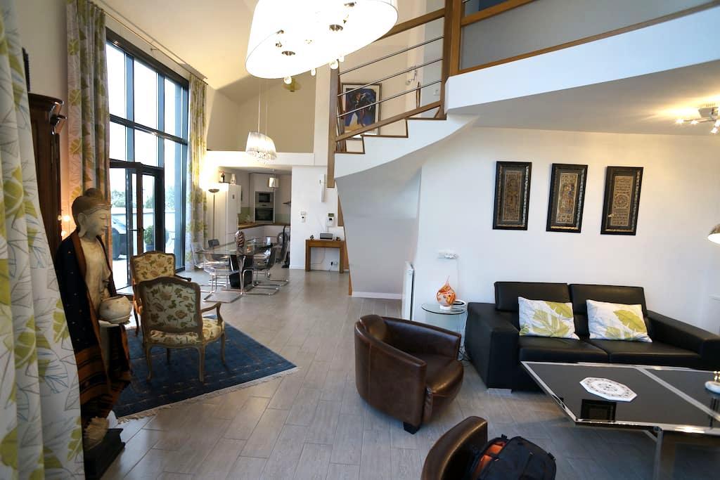 Nice & big duplex Penthouse,  Sunny terrace! - Saint-Ouen - Appartement