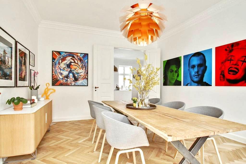 Superflot, moderniseret feinschmecker lejlighed - Aalborg - Lejlighed