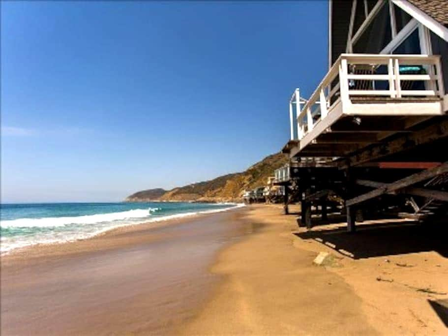 Unique 'A-Frame' on Private Beach - Malibu