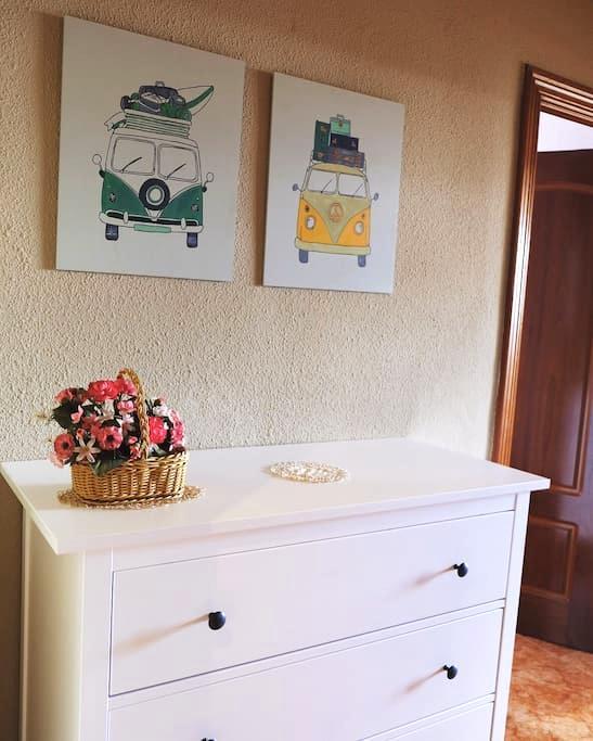 Una habitación privada y acogedora - 萨拉曼卡 - Huoneisto