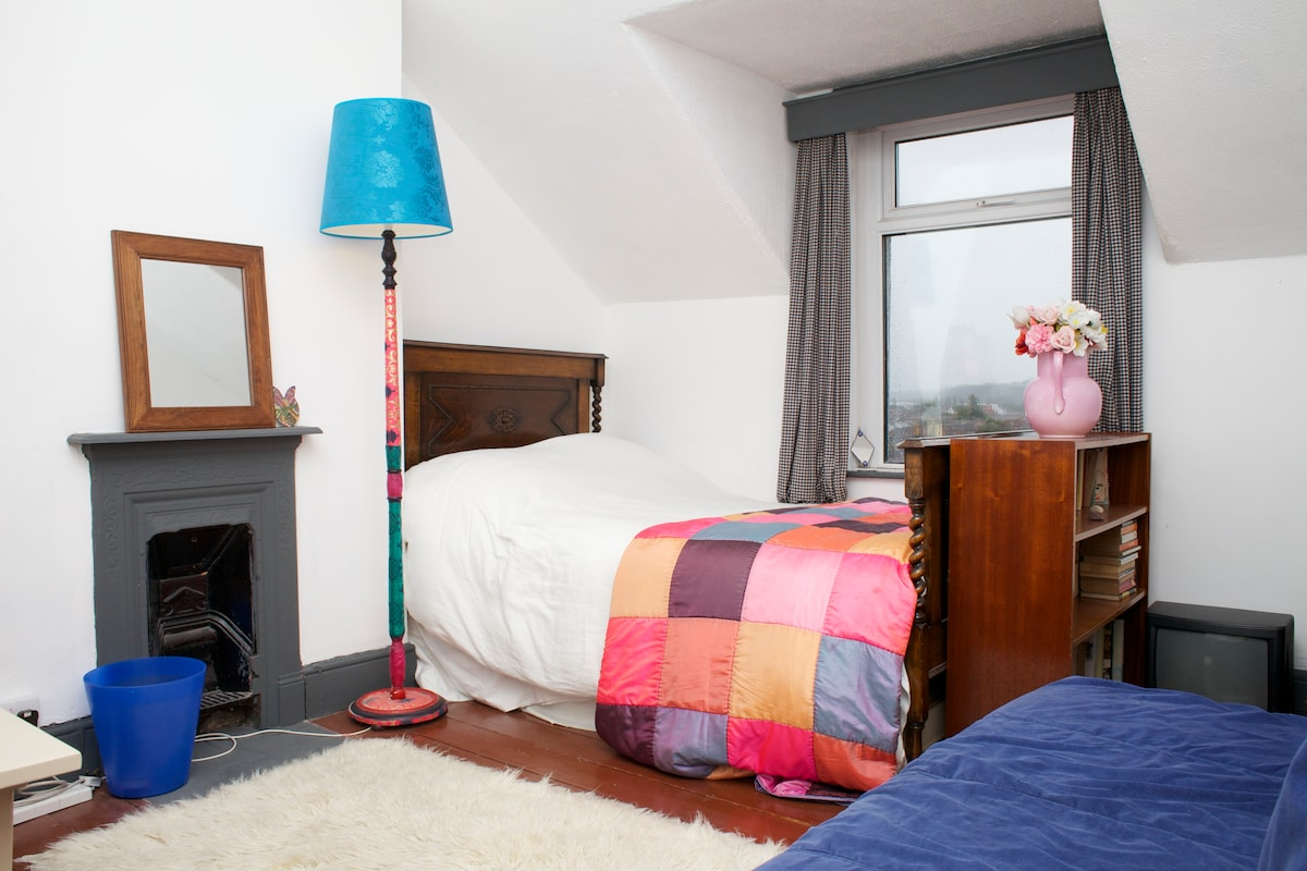 Double Room at top of house - with sofa bed and TV