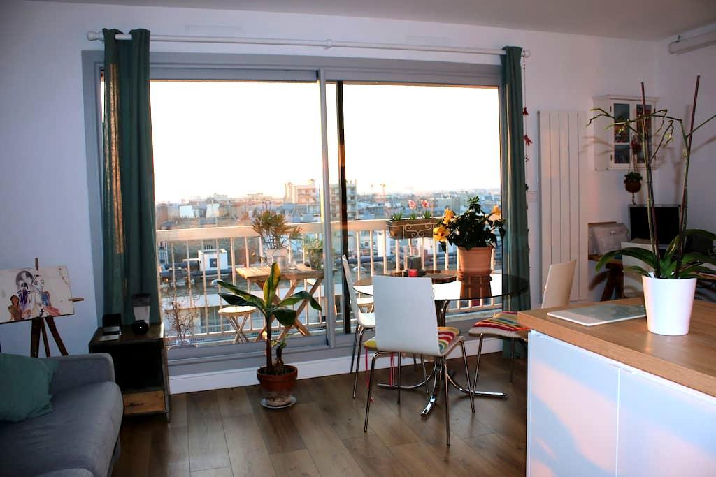 Splendid nest over Paris' roofs ! - Paris - Apartemen