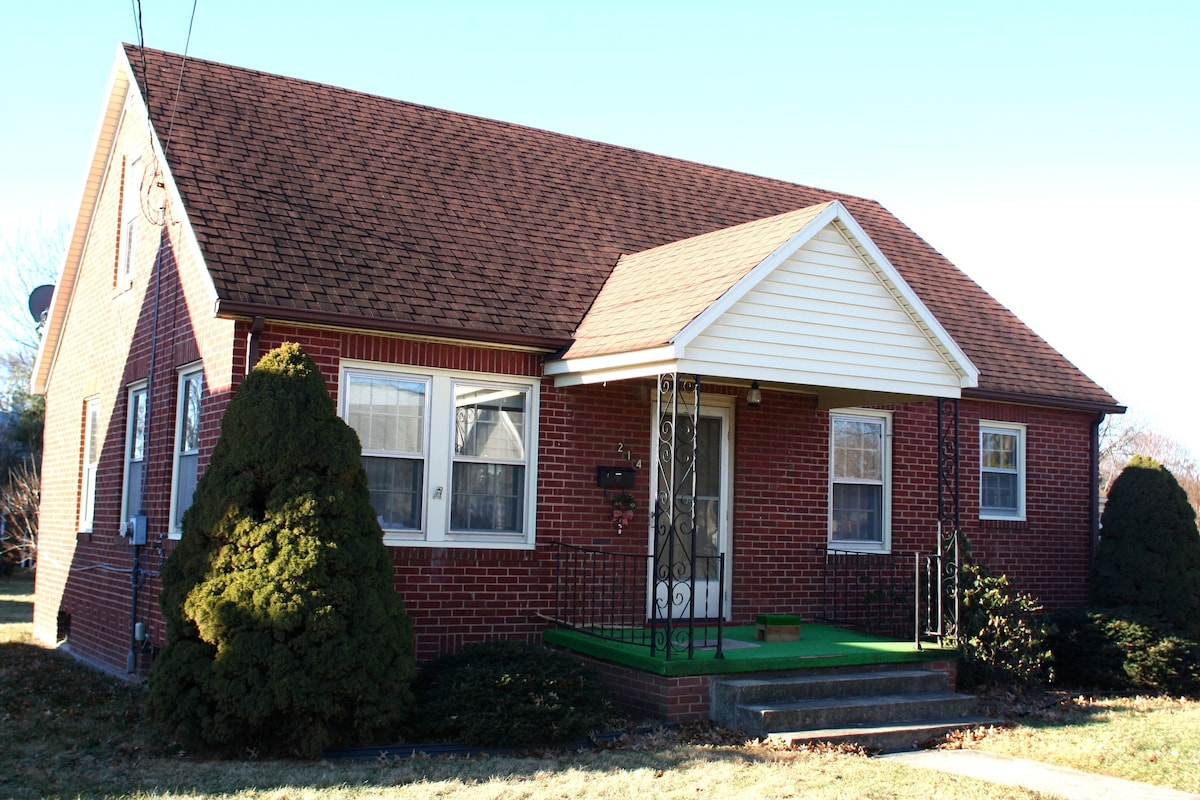Brick house in quiet neighborhood