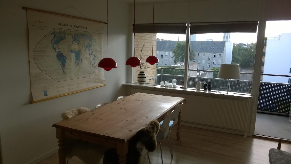 Vesterbro apartment with balcony