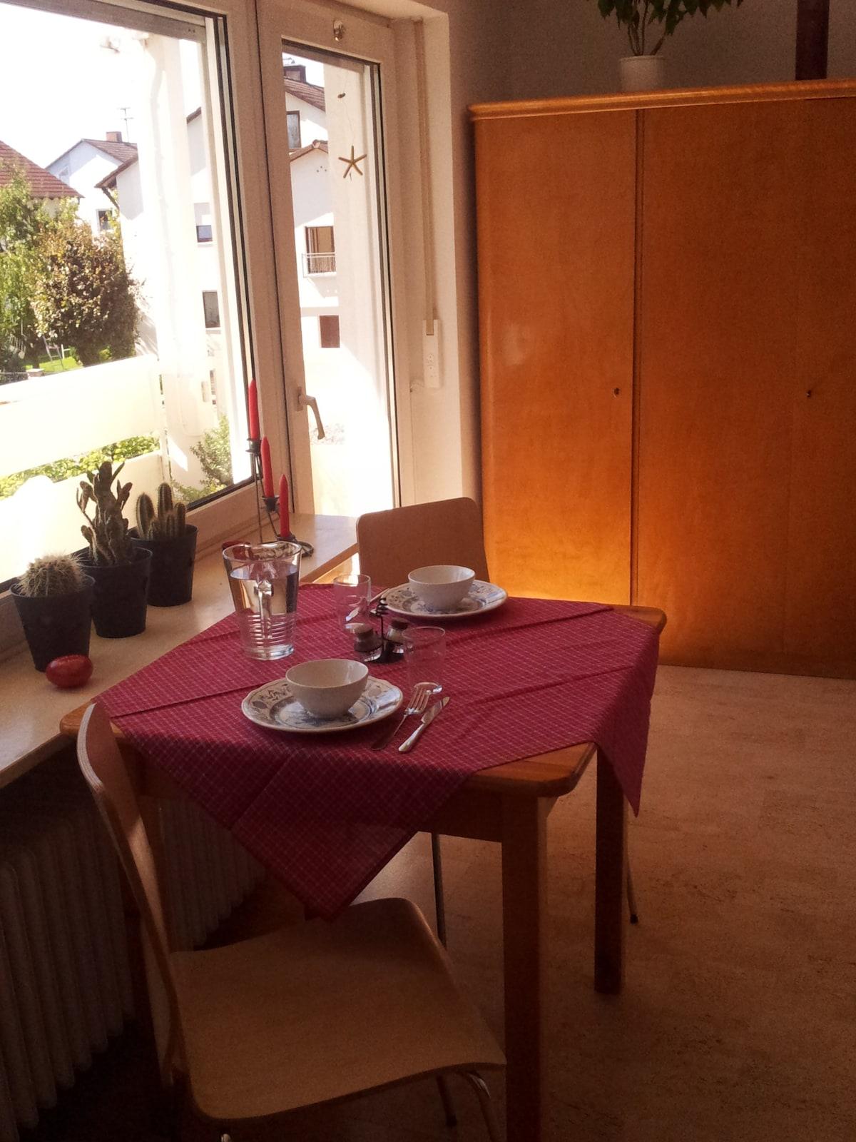 For breakfast, lunch, dinner.../Eßecke