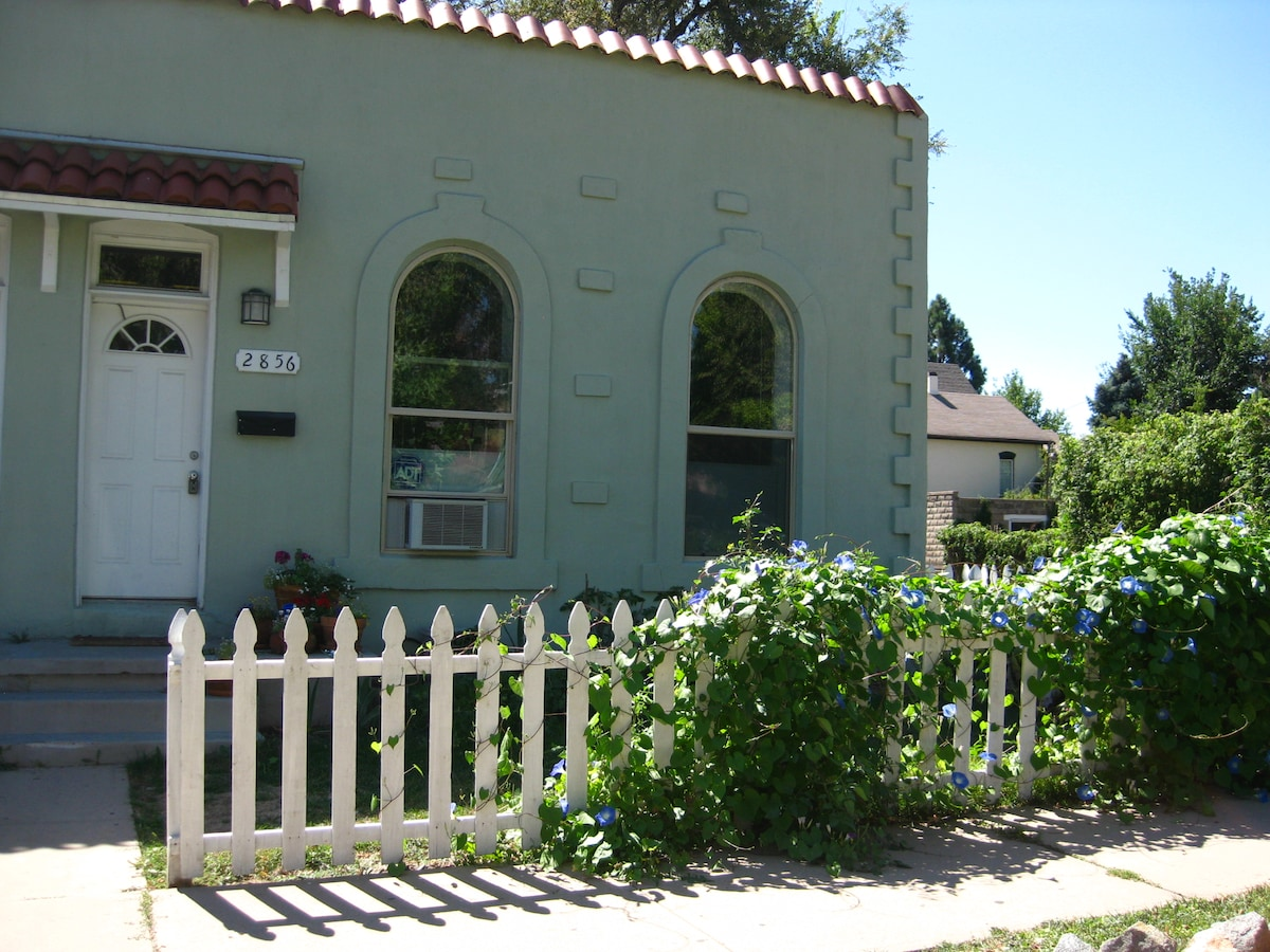 View of 1890's adobe duplex.  Very walkable - cofffee shop 1 blk away.