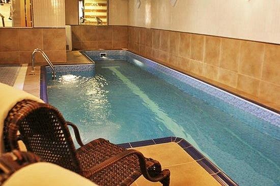 Enjoy the nice warm water pool.