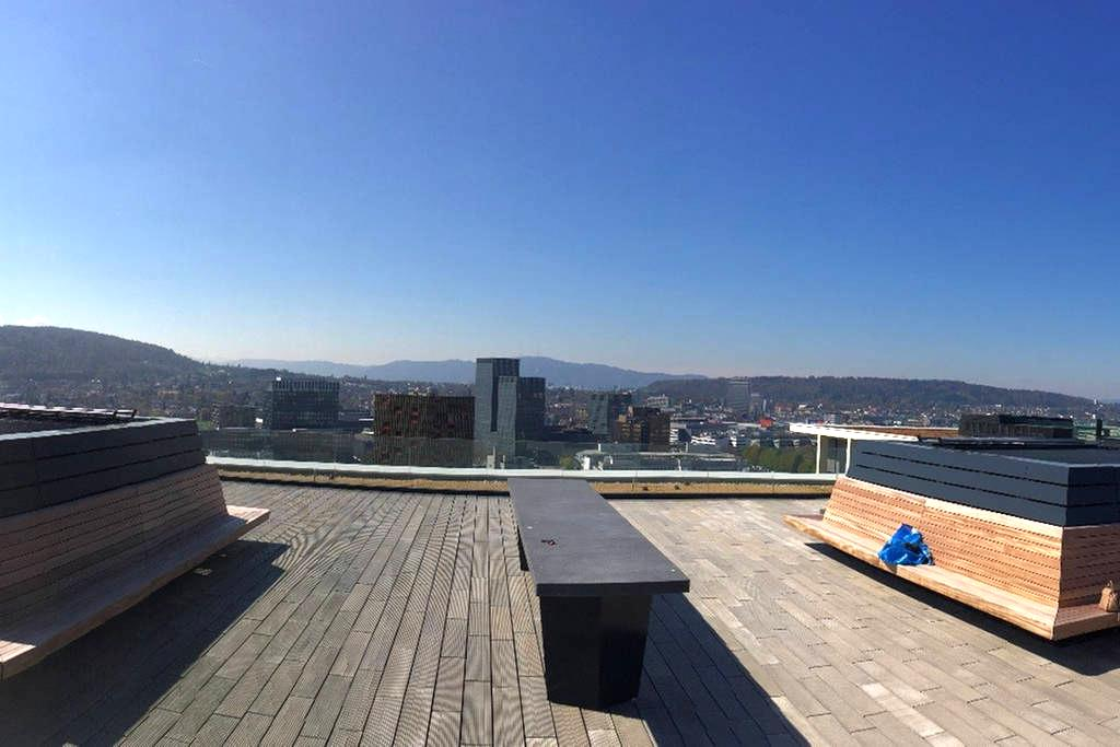 Room with balcony in high standing apartment - Zurych - Apartament