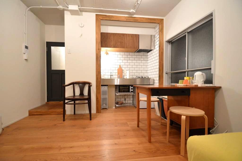 Near Shibuya 6min Nakameguro/Renovated - Meguro-ku - Appartement