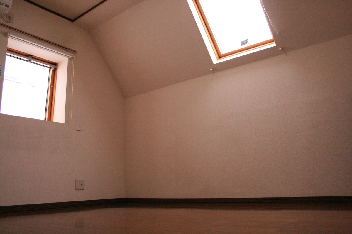 Two windows in your room. These pictures are before furnishing and decorating.  You will stay in furnished decorated room. We will change pictures later. July 9th , 2015