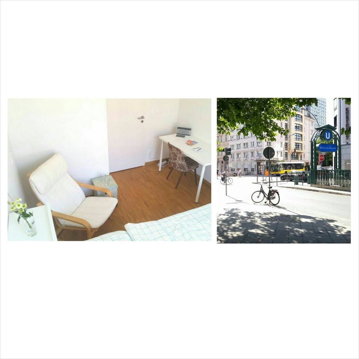 Sunny room w/ own bathroom in Mitte