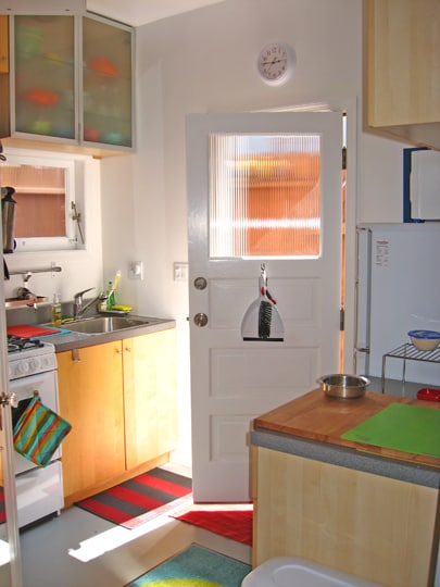 Partial view of kitchen.