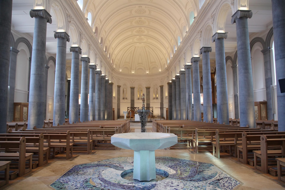 The recently restored St Mel' Cathedral, Longford.