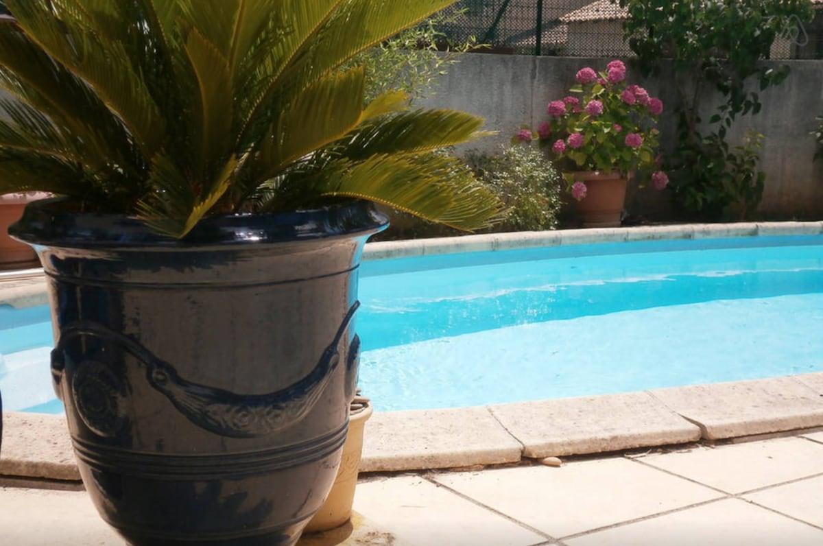 Chambre d'hôtes 2: piscine+ptit déj