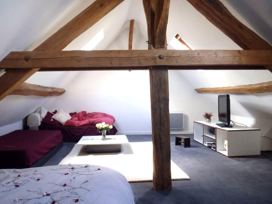 Chambre très spacieuse et lumineuse - Chailly-en-Bière - Huis