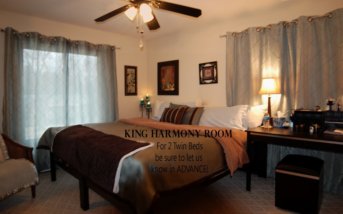 Deluxe King Bed with a variety of soft and firm pillows.