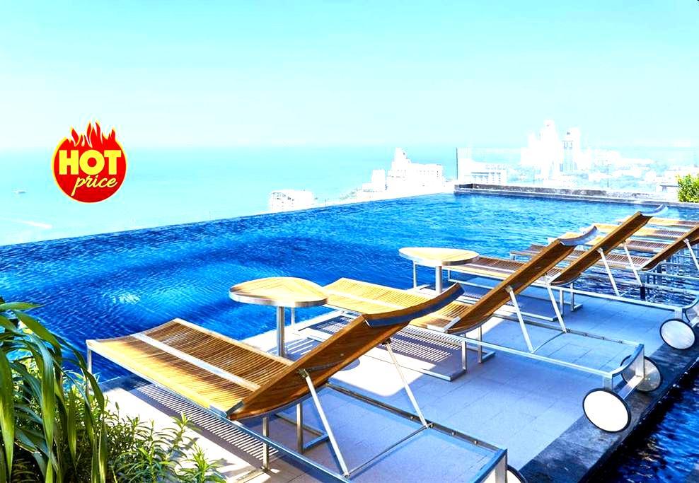 ✮ 1 BR Sea View in ♥ Pattaya 100 meters to Beach ✮ - Pattaya