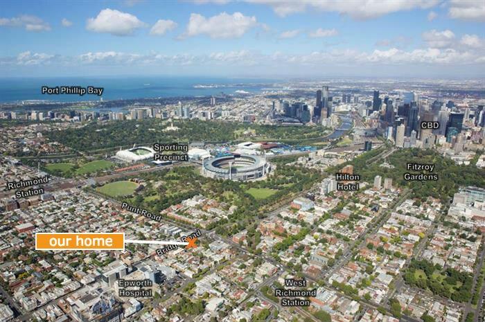Central Melbourne home next to MCG