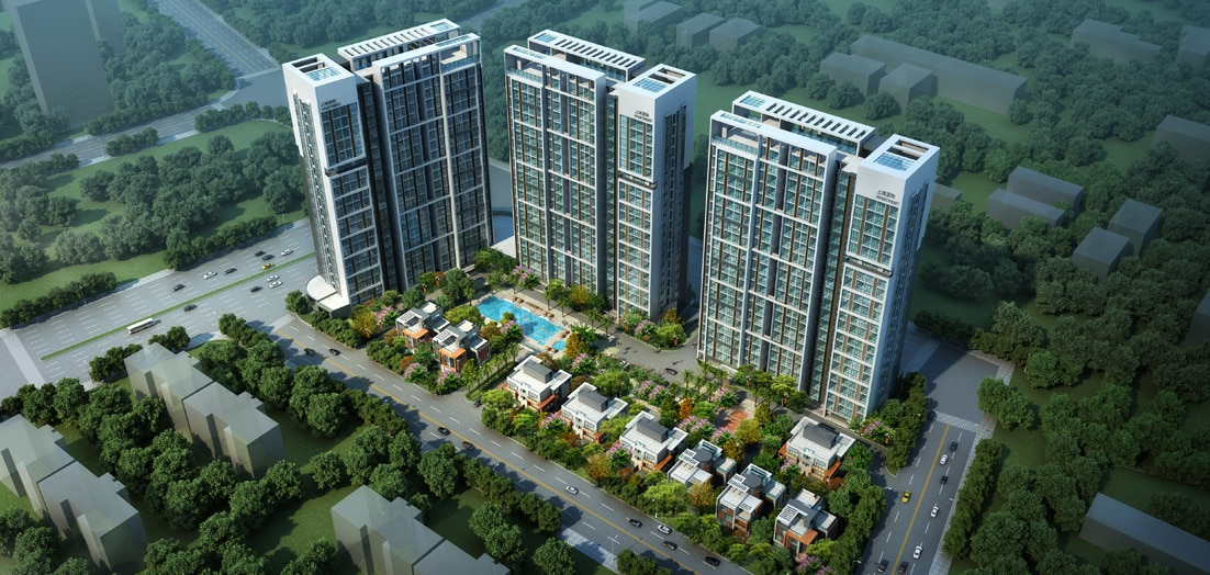 一处广州南部环境优雅的崭新住宅