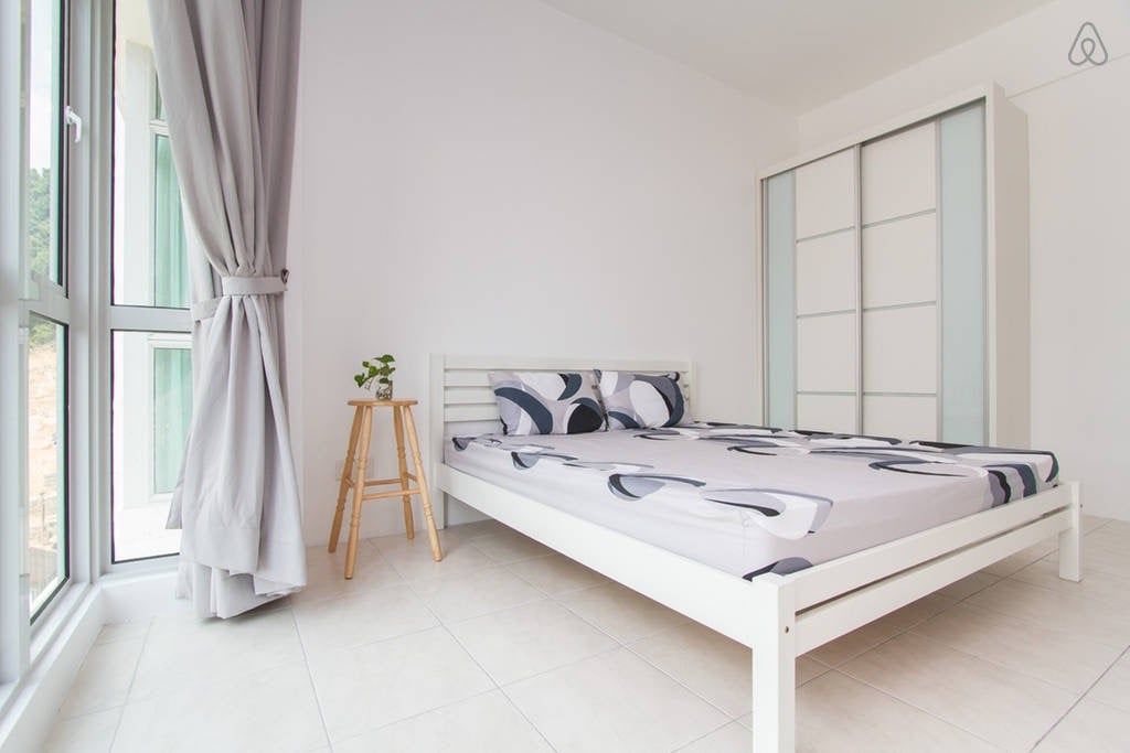 Tidy and bright master room