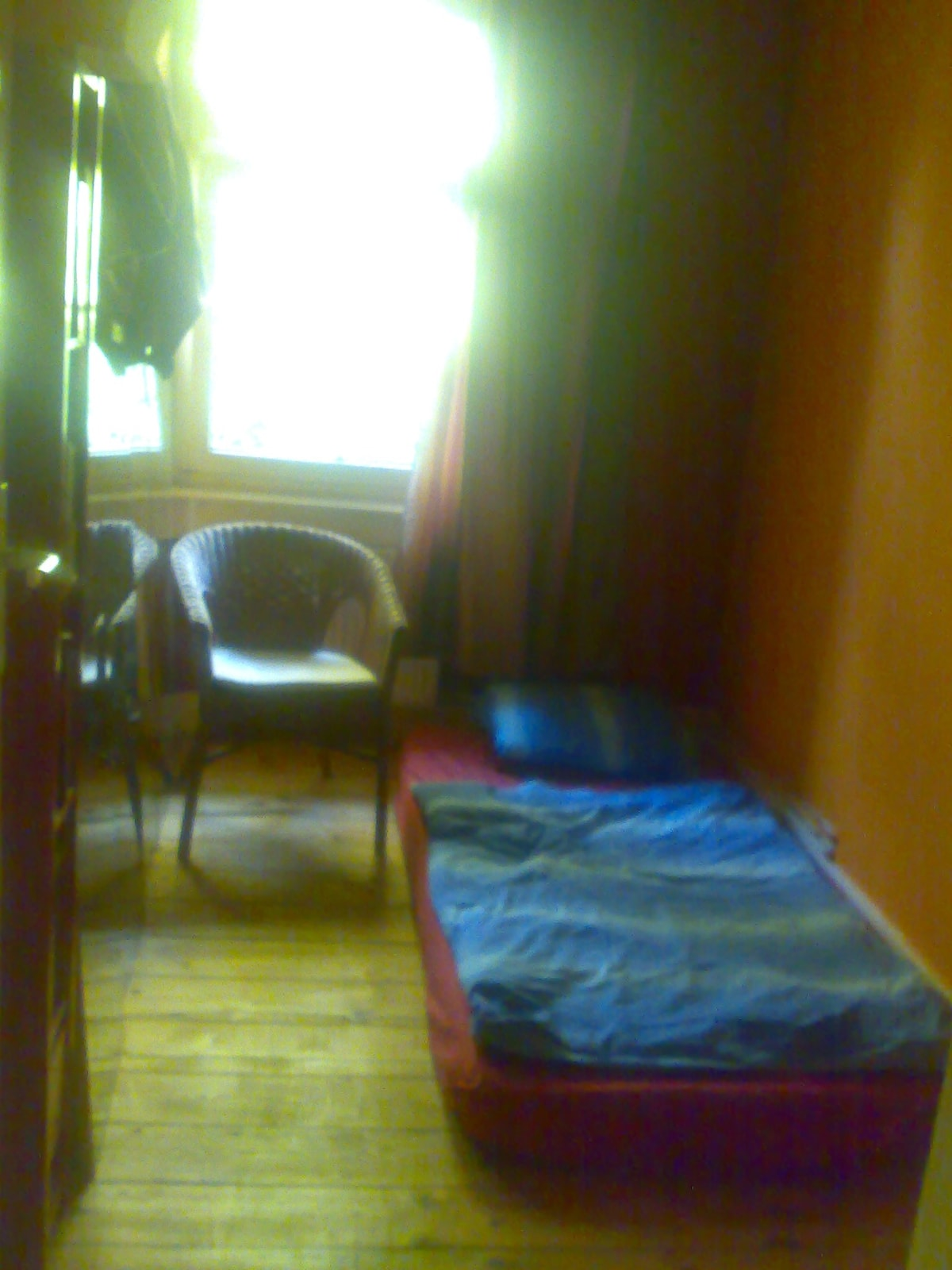 Small Red Room - just bed & chair