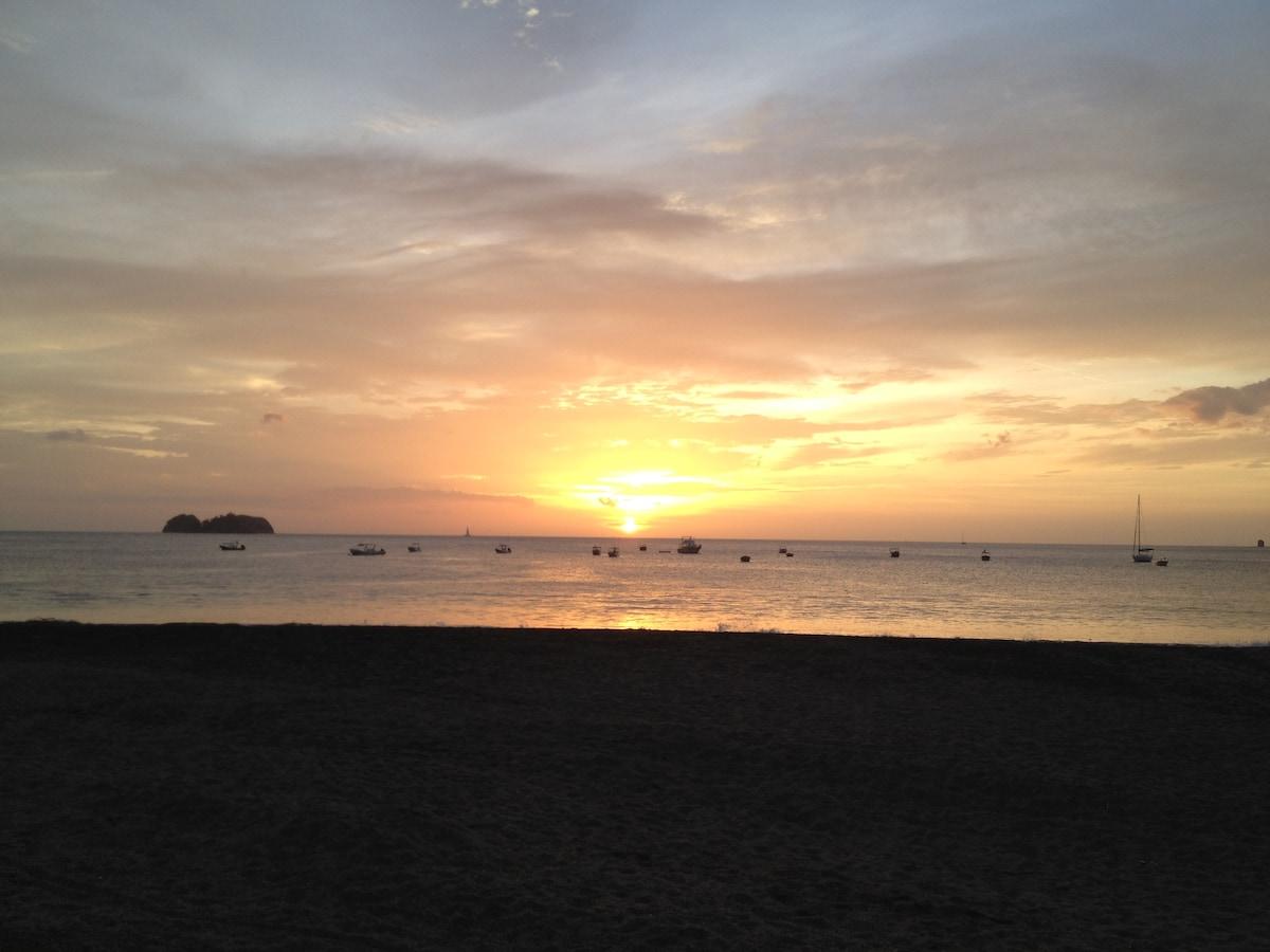 Costa Rican condo steps from beach