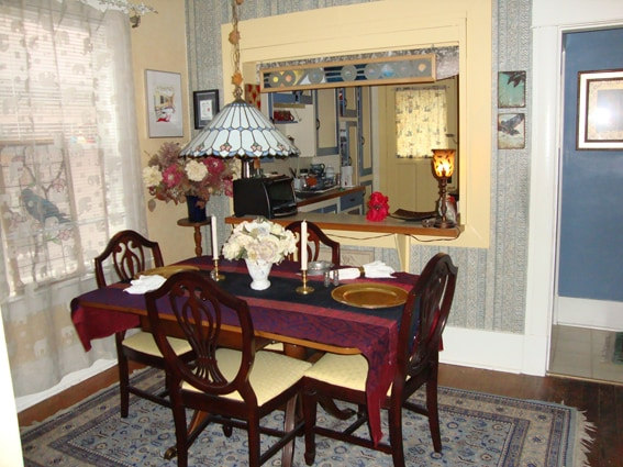 Dining Room w/ Kitchen at back