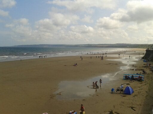 August 2012 on Filey beach.Great place to spend the day with the family.
