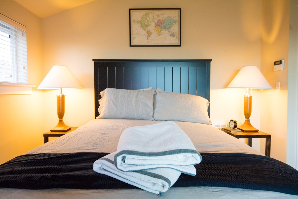 Your Queen size Sealy Posturpedic is incredibly comfortable. You won't want to get out of bed!