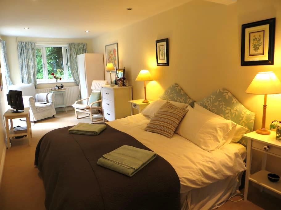 Large double room in lovely Wiltshire home. - Marlborough - Casa
