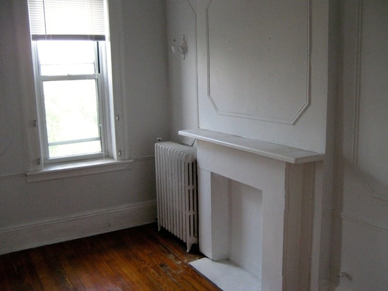 Couch in Charming Hoboken Apartment