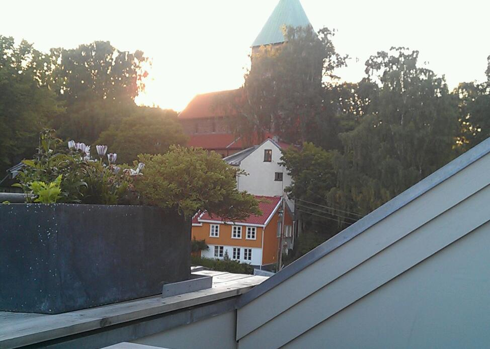 View from balcony, attic.