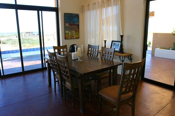 Dining area in the great room.